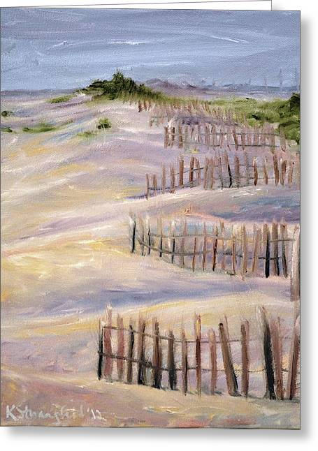 Sand Dunes Paintings Greeting Cards - Sand Dunes Greeting Card by Karen Strangfeld