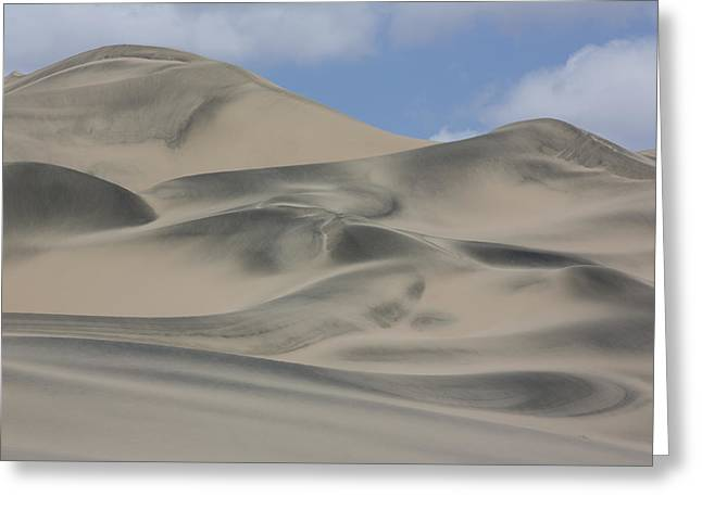 Nazca Greeting Cards - Sand Dunes Nazca Desert  Peru Greeting Card by Cyril Ruoso