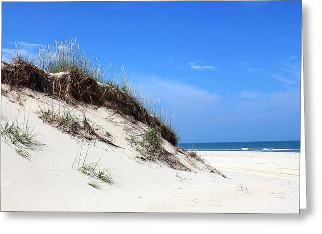 Carolina Mixed Media Greeting Cards - Sand Dunes of Corolla Outer Banks OBX Greeting Card by Design Turnpike