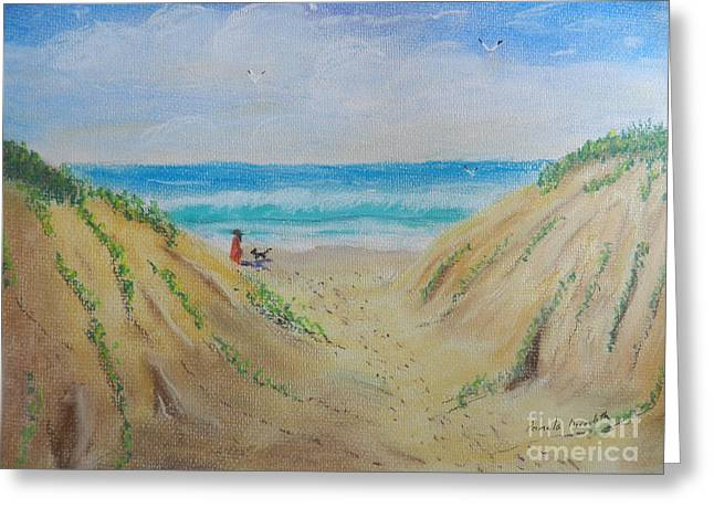 Sand Dunes Paintings Greeting Cards - Sand Dunes Greeting Card by Pamela  Meredith