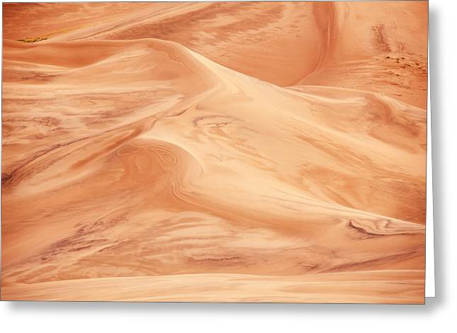 Sand Patterns Greeting Cards - Sand Dunes Pattern Abstract Greeting Card by Roupen  Baker