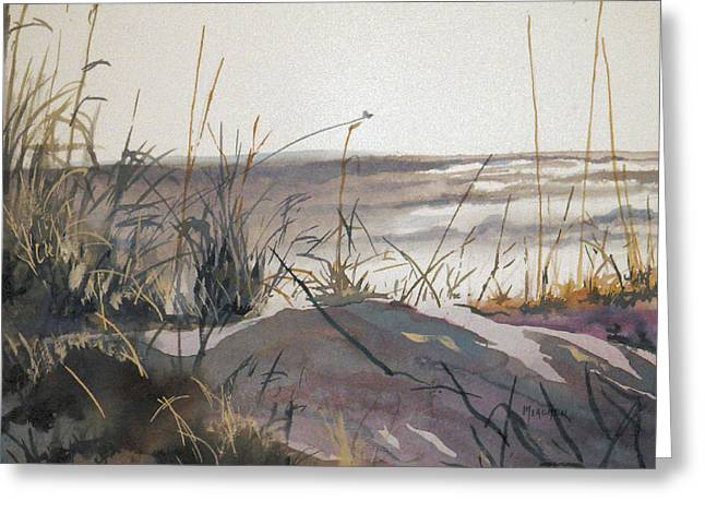 Sand Dunes Paintings Greeting Cards - Sand Dunes Greeting Card by Spencer Meagher
