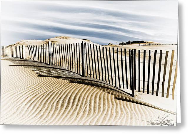 Sand Fences Greeting Cards - Sand Fence Greeting Card by Scott Geib