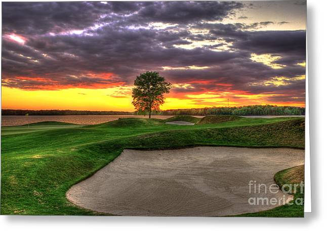 Golf Pictures Greeting Cards - Sand Flies Greeting Card by Reid Callaway