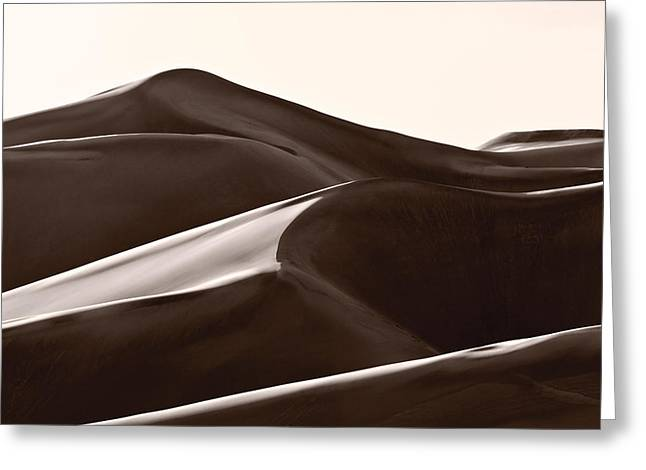 Shadow Shapes Greeting Cards - Sand Forms Great Sand Dunes Colorado Greeting Card by Steve Gadomski