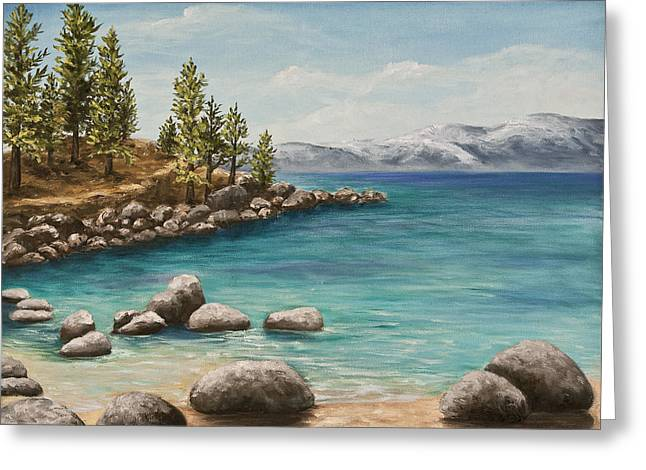 Habor Greeting Cards - Sand Harbor Lake Tahoe Greeting Card by Darice Machel McGuire