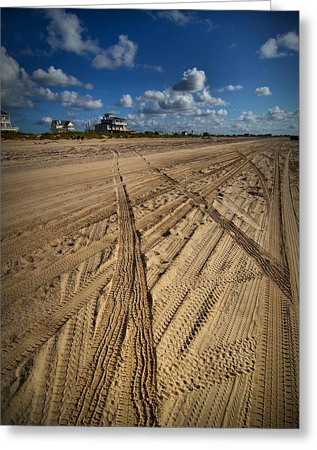 Sand Dunes Digital Greeting Cards - Sand Lines Greeting Card by Linda Unger