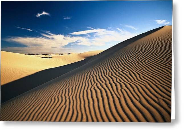 Oceano Greeting Cards - Sand Maze Greeting Card by Aron Kearney Fine Art Photography