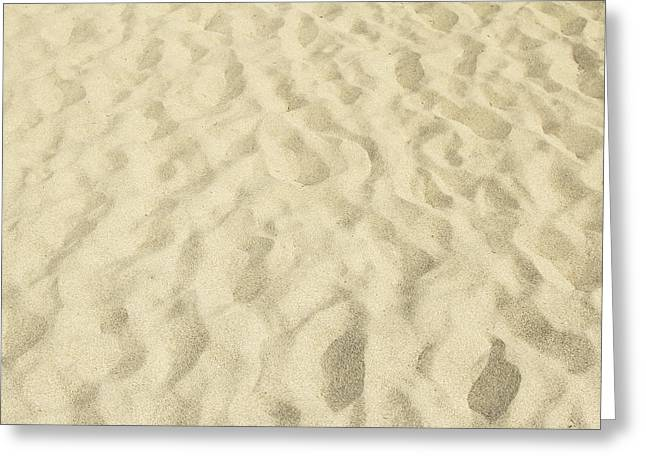 Sand Patterns Greeting Cards - Sand pattern Greeting Card by Les Cunliffe