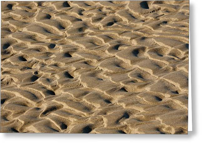Sand Patterns Greeting Cards - Sand Patterns Greeting Card by Art Block Collections