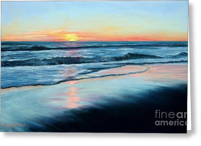Horizon Pastels Greeting Cards - Sand Reflections Greeting Card by Mary Benke