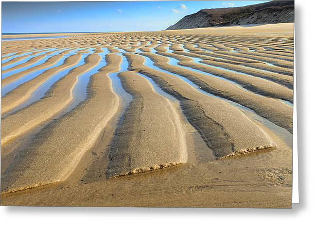 Sand Ripples Greeting Cards - Sand Ripples At Low Tide Greeting Card by Dapixara Art