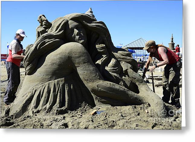 Sand Castles Greeting Cards - Sand Sculpture 1 Greeting Card by Bob Christopher