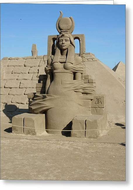 Sand Sculptures Greeting Cards - Sand Sculpture Greeting Card by Maria Joy
