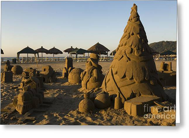 Sand Castles Greeting Cards - Sand Sculptures Greeting Card by Ron Sanford