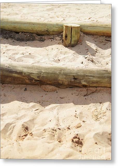 Tanline Greeting Cards - Sand Steps Greeting Card by Stephanie Guinn