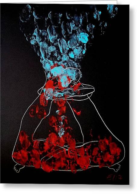 Elisheva Nesis Greeting Cards - Sand Timer Of Love Greeting Card by Elisheva Nesis