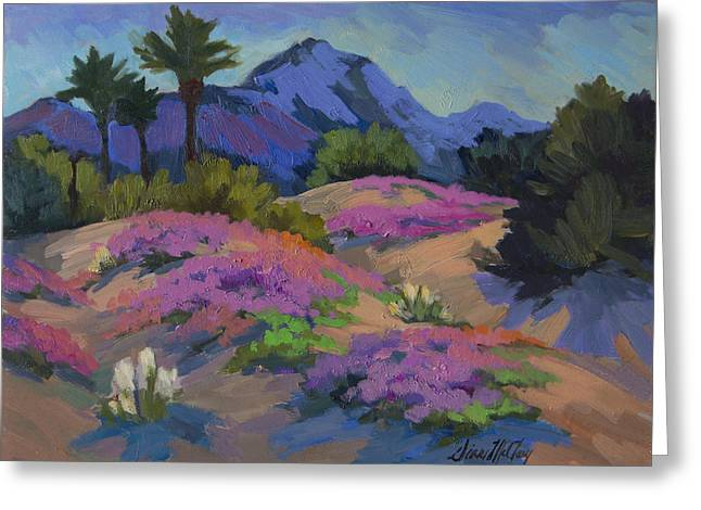 Verbena Greeting Cards - Sand Verbena Back Lit Greeting Card by Diane McClary