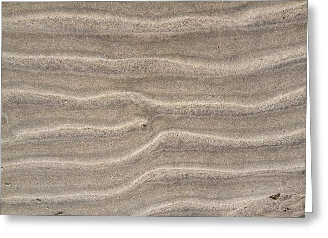 Sand Patterns Greeting Cards - Sand Waves 1 Greeting Card by Susan Harris