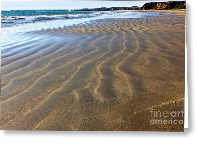 Outgoing Tide Greeting Cards - Sand Waves Greeting Card by Shannan Peters