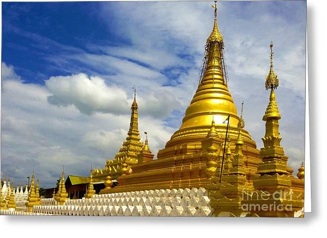 1874 Greeting Cards - Sandamuni Pagoda Mandalay Burma Greeting Card by Ralph A  Ledergerber-Photography