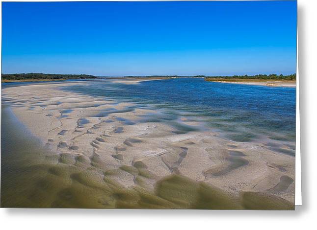 Recently Sold -  - Jacksonville Greeting Cards - Sandbars on the Fort George River Greeting Card by John Bailey