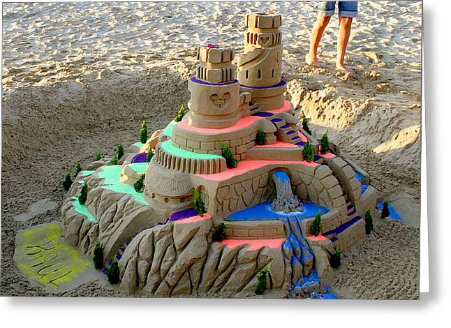 Sand Castles Greeting Cards - Sandcastle Greeting Card by Art Block Collections