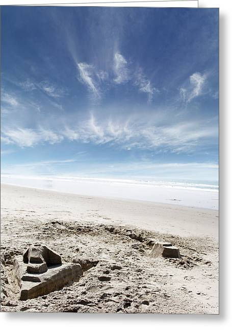 Sandcastle Greeting Cards - Sandcastle Greeting Card by Les Cunliffe