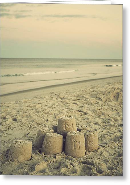 Baby Room Greeting Cards - Sandcastle - Vintage Greeting Card by Terry DeLuco