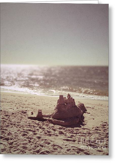 Sand Castles Greeting Cards - Sandcastles Greeting Card by Margie Hurwich
