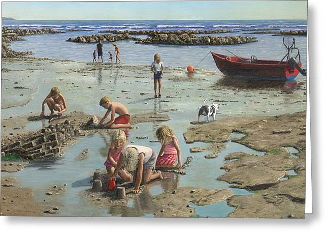 Sandcastles Greeting Card by Richard Harpum