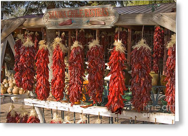 Sandia Chile Ristras Greeting Card by Richard and Ellen Thane