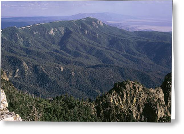 Grey Clouds Greeting Cards - Sandia Mountains, Albuquerque, New Greeting Card by Panoramic Images