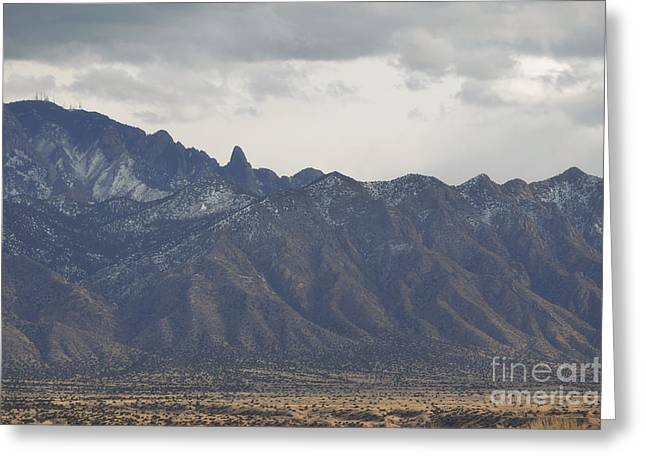 Sandia Mountains Greeting Cards - Sandia Mountains Close Up Greeting Card by Andrea Hazel Ihlefeld