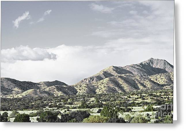 Sandias Greeting Cards - Sandia Mountains Spring Greeting Card by Andrea Hazel Ihlefeld