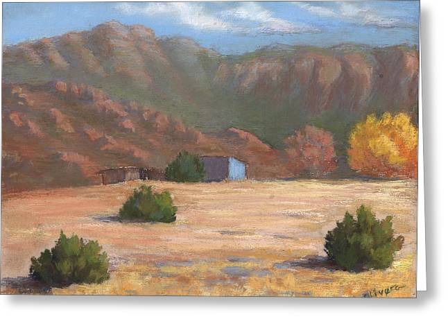 Fall Colors Pastels Greeting Cards - Sandia View Greeting Card by Mary Olivera