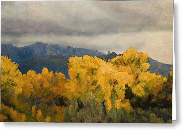 Sandias From The Bosque Greeting Card by Jack Atkins