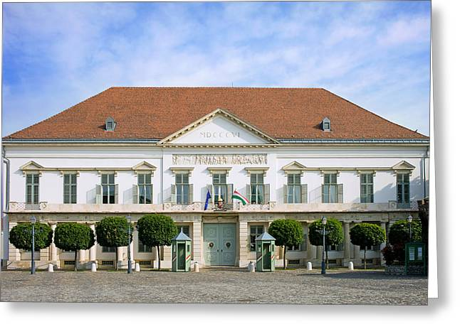 Classical Style Greeting Cards - Sandor Palace in Budapest Greeting Card by Artur Bogacki