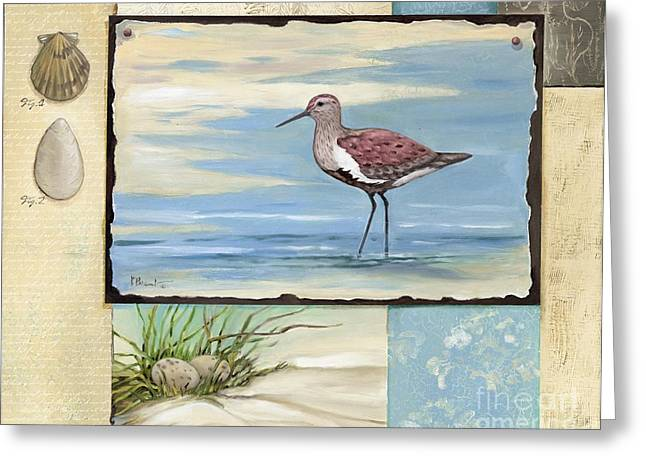 Sandpipers Greeting Cards - Sandpiper Collage II Greeting Card by Paul Brent