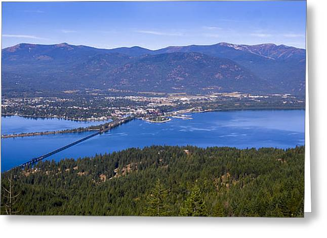 Schweitzer Greeting Cards - Sandpoint from Trail 3  -  110923-021 Greeting Card by Albert Seger
