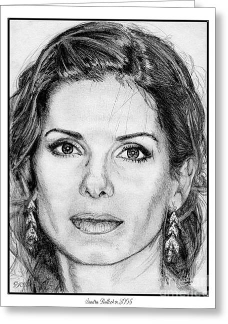 Mccombie Greeting Cards - Sandra Bullock in 2005 Greeting Card by J McCombie