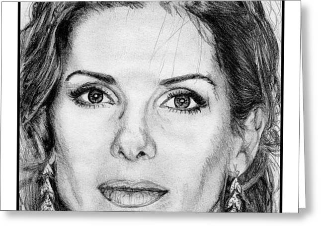 Sandra Bullock in 2005 Greeting Card by J McCombie