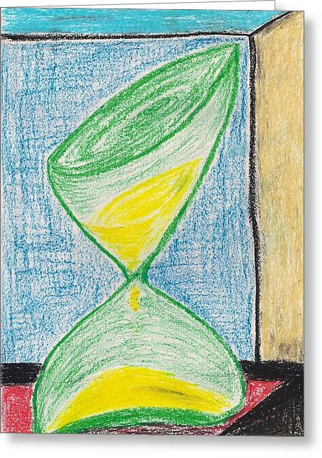 Distortion Pastels Greeting Cards - Sands of Time Greeting Card by Parijat Bhattacharjee