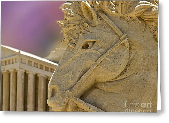 Greek Sculpture Greeting Cards - Sands of Time Greeting Card by Tom Gari Gallery-Three-Photography