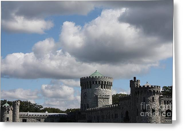 Sand Castles Greeting Cards - Sands Point Castle Greeting Card by John Telfer