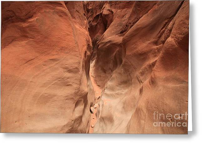 Narrow Canyons Greeting Cards - Sandstone Abyss Greeting Card by Adam Jewell