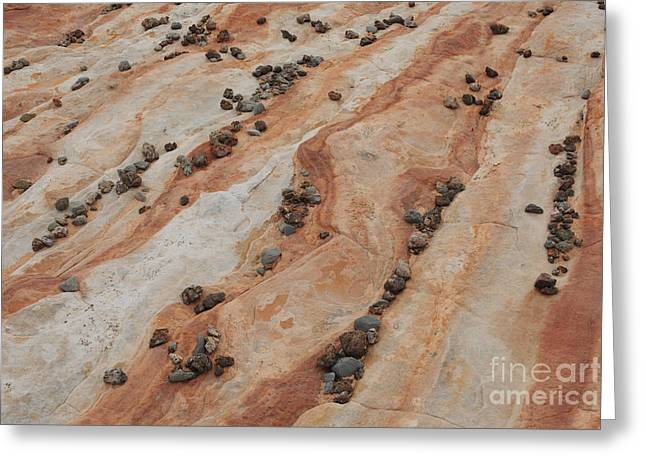 Geologic Formations Greeting Cards - Sandstone And Rocks Greeting Card by John Shaw