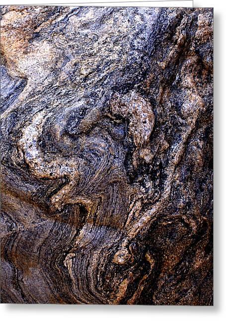 Babbling Greeting Cards - Sandstone Boulder Detail Greeting Card by Barbara Snyder