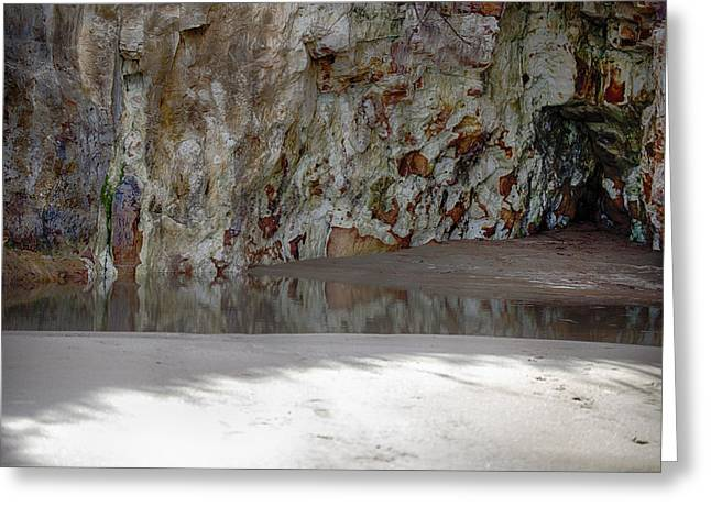Tree Roots Greeting Cards - Sandstone Cave V2 Greeting Card by Douglas Barnard