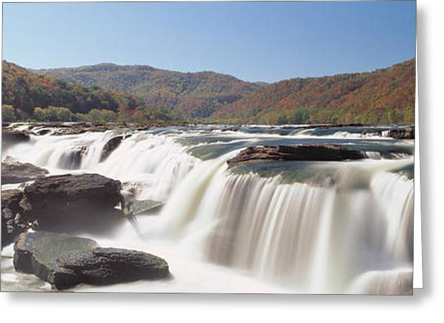 Wv Greeting Cards - Sandstone Falls New River Gorge Wv Usa Greeting Card by Panoramic Images